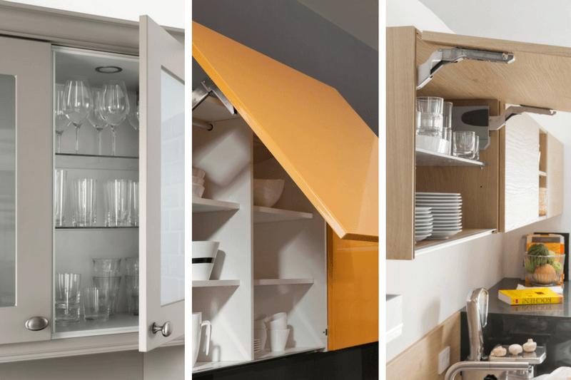 górne szafki do kuchni - jakie otwieranie