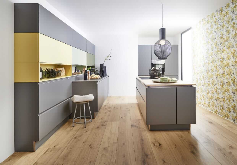 Kuchnia nowoczesna - trendy kuchenne 2019 - oliwka i awokado